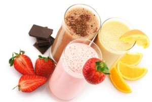 selection of meal replacement shakes